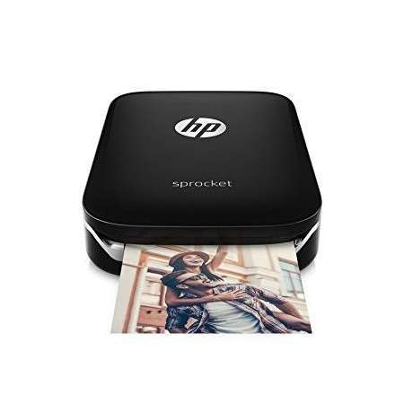 HP Sprocket Zink Negro + 20 Hojas