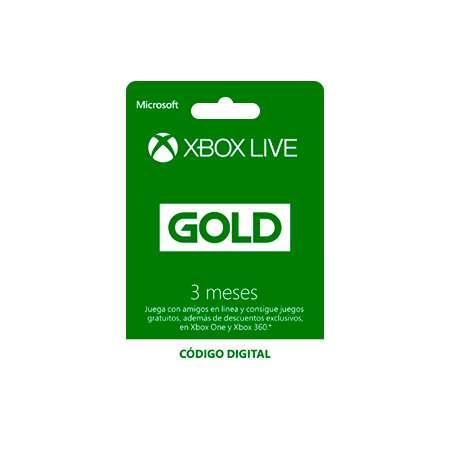 3 MESES XBOX LIVE GOLD