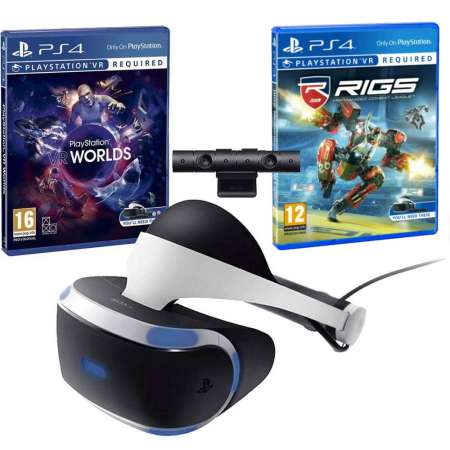 Pack Playstation VR + Playstation Camera + VR Worlds + Rigs