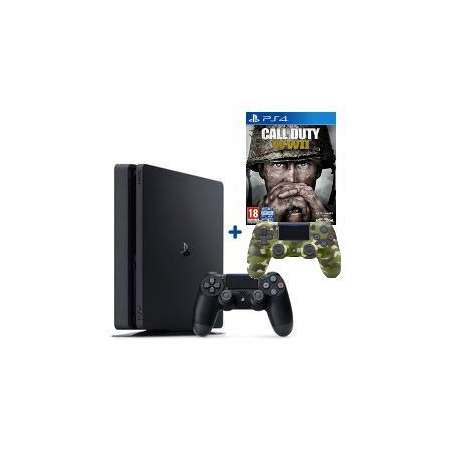 Sony PS4 Playstation 4 Slim 500Gb + Call of Duty WWII + Mando Dual Shock Camuflaje