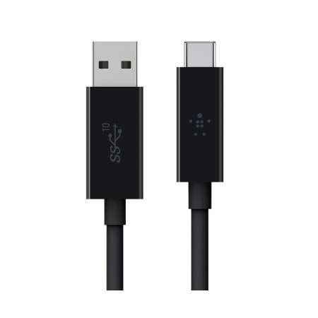 Cable Belkin USB-C 3.1 / USB-A 1Mt. Negro