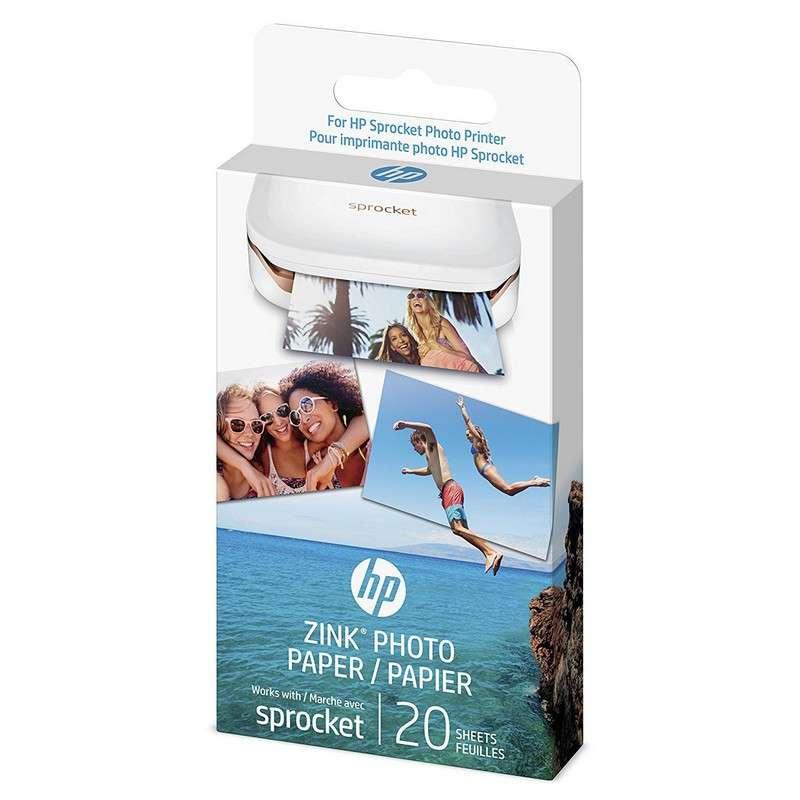 HP Zink Papel Fotográfico Adhesivo 20 Hojas 5 x 7.6 Cm