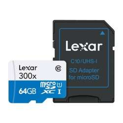 Memoria MicroSDHC Lexar 64Gb 300x High-Performance