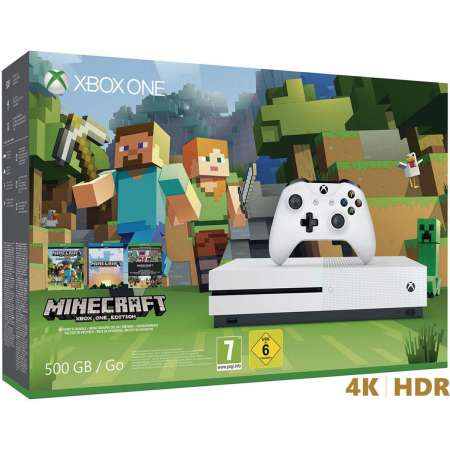 Microsoft Xbox One S 500GB + Minecraft