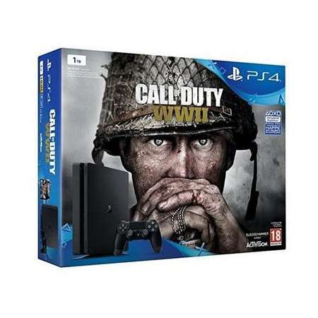 Sony PS4 PlayStation 4 Slim 1TB + Call Of Duty WWII