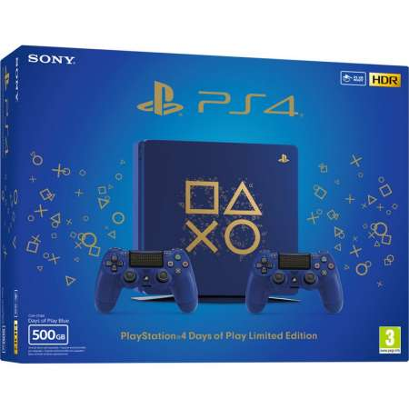 Sony PS4 Playstation 4 500Gb Edición Days of Play + 2 Dualshock 4