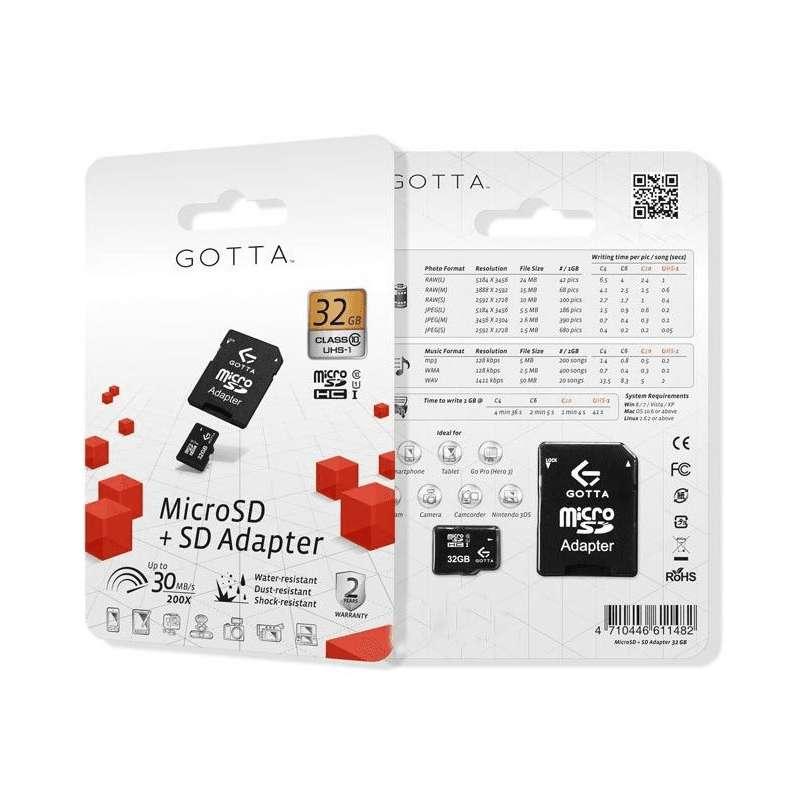 Memoria MicroSDHC Gotta 32Gb Clase 4