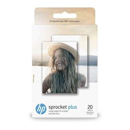 Papel fotográfico adhesivo HP Sprocket Plus: 20 hojas /5,8 x 8,7 cm