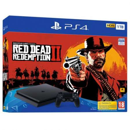 Sony PS4 PlayStation 4 Slim 1Tb + Red Dead Redemption 2