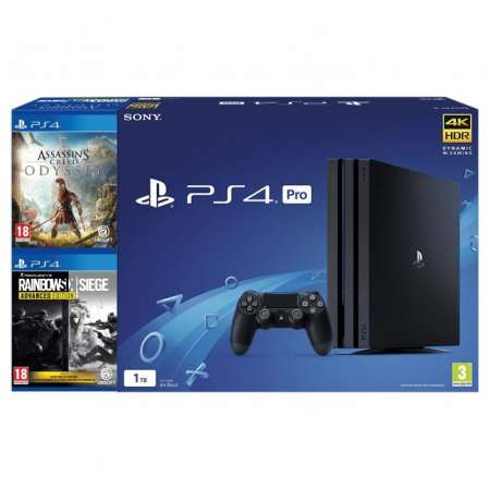 Sony PS4 PlayStation 4 Pro 1TB + Assassins Creed Odyssey + Rainbowsix