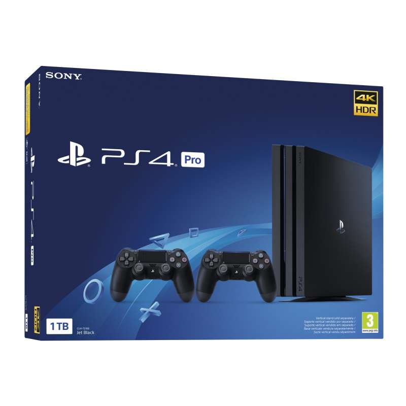 Sony PS4 PlayStation 4 Pro 1TB + 2 Mandos