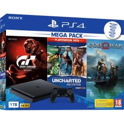 Sony PS4 Playstation 4 Slim 1Tb PLAYHITS Gran Turismo + Uncharted + God Of War