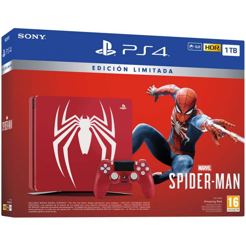 Sony PS4 PlayStation 4 Slim 1TB Edicion Especial + Spider-Man