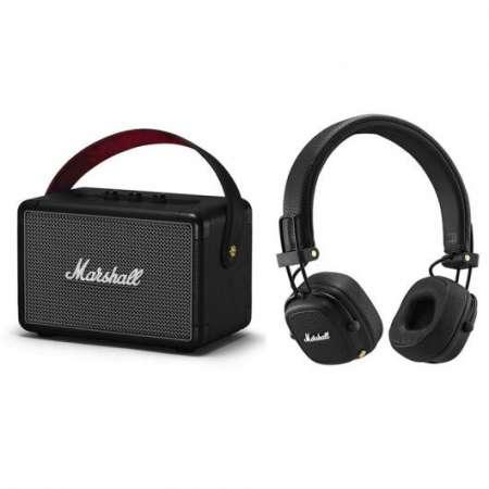 Pack Kilburn II Altavoz Portátil Bluetooth Negro + Major III Bluetooth negro