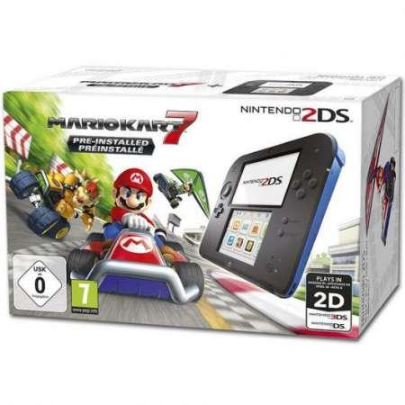 Nintendo 2DS Negra/Azul + Mario Kart 7