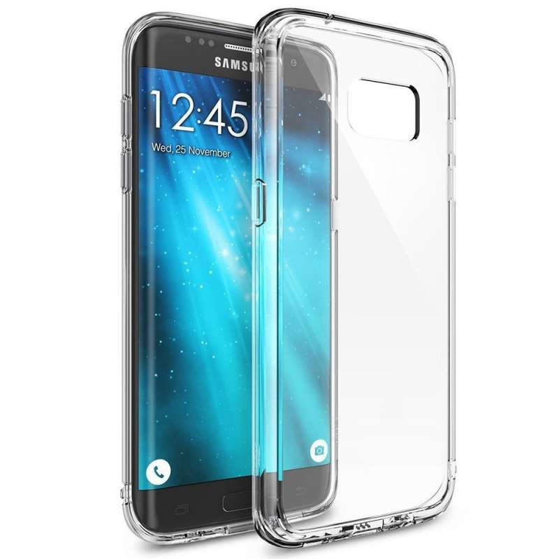 funda silicona samsung galaxy s7 edge transparente tienda cpu. Black Bedroom Furniture Sets. Home Design Ideas