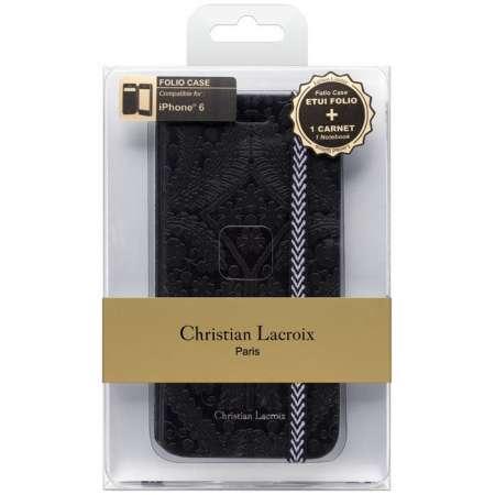 Funda + agenda Iphone 6 Christian Lacroix negro