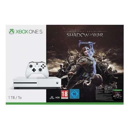 Microsoft Xbox One S 1TB + La Tierra Media: Sombras de Guerra
