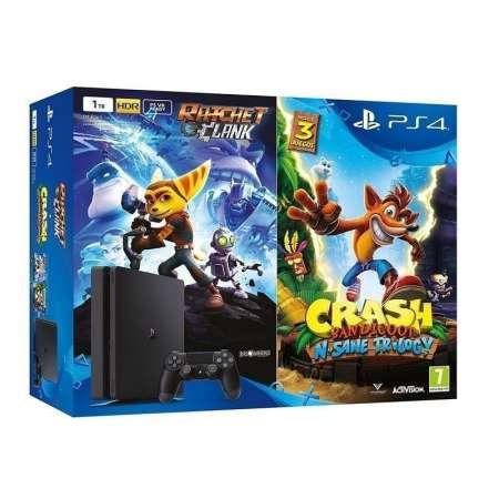 Sony PS4 PlayStation 4 Slim 1TB + Crash Bandicoot + Ratchet & Clank