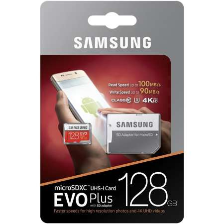Samsung microSDHC EVO Plus USH-1 Card 128GB