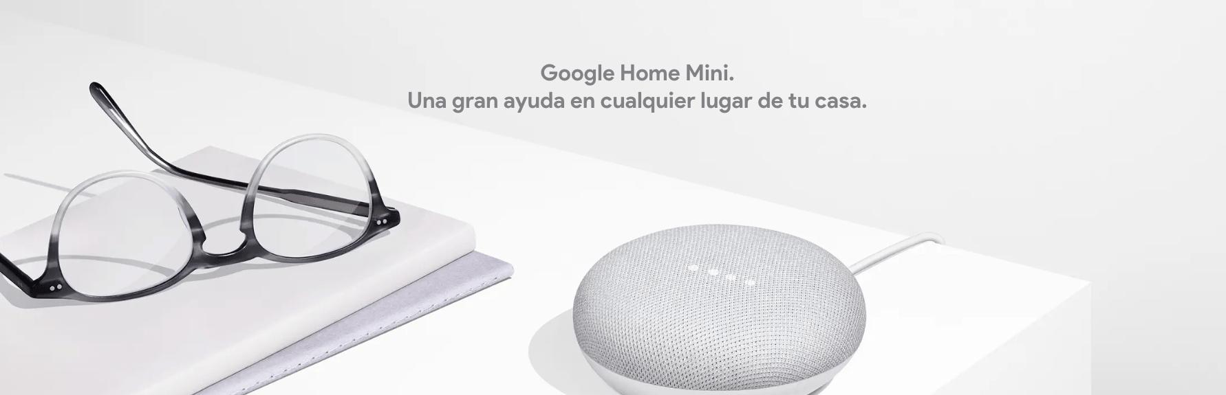Google Home mini gris. Una gran ayuda sin usar las manos.