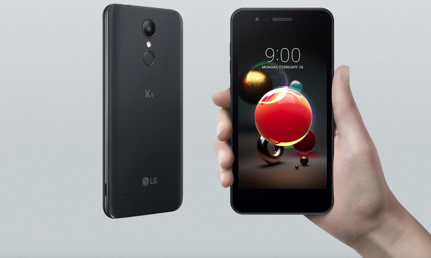 LG K9. Diseño compacto y agarre perfecto.