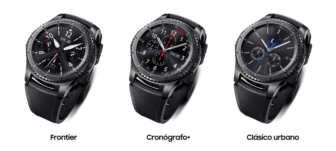 Samsung Gear S3 Frontier. La esfera de tu reloj siempre encendida.